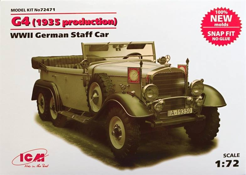 R03268 1//72 GERMAN STAFF CAR G4 PLASTIC KIT
