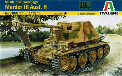 panzerjager marder iii ausf h ex esci it7060. Black Bedroom Furniture Sets. Home Design Ideas