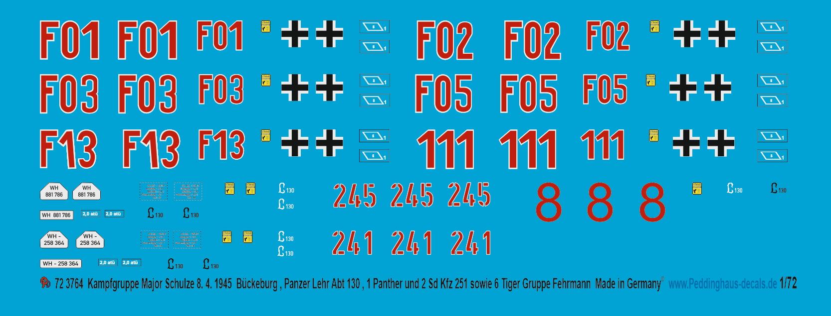 Peddinghaus-Decals 1//72 3695 Geschützpanzerwagen BP 73 Model Hobby Boss